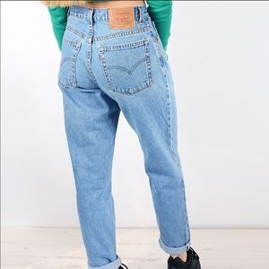 Vintage 90's Levi's 550 Relaxed Tapered Je…